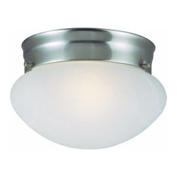 DHI-Corp - Millbridge 2-Light Ceiling Mount, Satin Nickel - The Design House 511568 Millbridge 2-Light Ceiling Mount is made of formed steel, alabaster glass and finished in satin nickel. This 1-light ceiling mount is rated for 120-volts and uses (2) 60-watt medium base incandescent bulbs. As one of the most popular styles of light fixtures, ceiling mounts are suited for any room in the house as they hang close to the ceiling with a classic half-moon shape. Measuring 5.25-inches (H) by 9.5-inches (W), this 2.5-pound fixture's clean lines and sleek details add a modern accent in a kitchen, dining room or entry way. This product is UL and cUL listed. The Millbridge collection features a beautiful matching pendant, chandelier, ceiling mount and vanity light. The Design House 511568 Millbridge 2-Light Ceiling Mount comes with a 10-year limited warranty that protects against defects in materials and workmanship. Design House offers products in multiple home decor Categories including lighting, ceiling fans, hardware and plumbing products. With years of hands-on experience, Design House understands every aspect of the home decor industry, and devotes itself to providing quality products across the home decor spectrum. Providing value to their customers, Design House uses industry leading merchandising solutions and innovative programs. Design House is committed to providing high quality products for your home improvement projects.