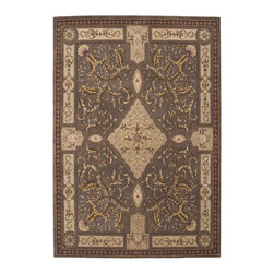 "Nourison - Nourison Versailles Palace Oriental Mushroom 9'6"" x 13'6"" Rug by RugLots - Fit for royalty, as the name suggests! This collection features stunningly elegant designs inspired by 18th Century French carpets and handmade with intriguing articulation from the highest quality wool. Features a dense, luxurious pile and hand-carved for added dimension with delicate accents that are a pleasure to both look at and touch."