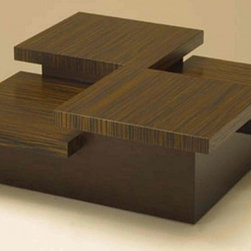Custom Contemporary Furniture - Custom size this beautiful Step coffee table. It's also available in many beautiful wood and metal finishes.