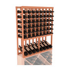 Wine Racks America - High Reveal Wine Rack Display in Redwood, Satin Finish - A highly decorative wine rack with all the elegance and functionality a wine enthusiast could want. Emphasize your favorite wine bottles with display rows and capture onlookers with dramatic lighting assemblies. The full beauty of this rack is maximized paired with any member from our wine rack family.