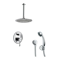 Remer - Round Modern Shower Faucet with Handheld Shower - Single function shower faucet.