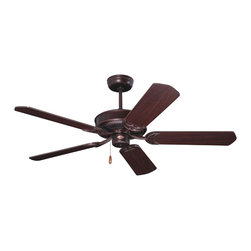Emerson Ceiling Fans - Emerson Ceiling Fans CF755VNB Emerson Cf755 5 Blade 52 Designer Ceiling Fan Blad - The Designer ceiling fan features a seamless housing with no visible hardware for a more attractive look.
