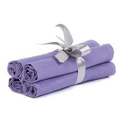 "BH Decor - Solid Lavender Table Linen Napkins ( Set of 4 ) - - 20"" square"