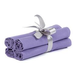 "BH Decor - Solid Lavender Table Linen Napkins ( Set of 4 ) - - 20"" square"