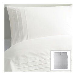 Alvine Strå Duvet Cover and Pillowcase(s) - Do you typically use a patterned duvet cover? We've always been fans of the crisp white duvet, smelling faintly of fabric softener and cool to the touch. Sweet dreams this year.
