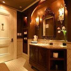 traditional powder room by Stratton Design Group
