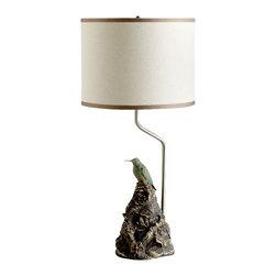 Cyan Design - Aviary Lamp - Aviary lamp in ancient gold.