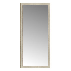 """Posters 2 Prints, LLC - 25"""" x 54"""" Libretto Antique Silver Custom Framed Mirror - 25"""" x 54"""" Custom Framed Mirror made by Posters 2 Prints. Standard glass with unrivaled selection of crafted mirror frames.  Protected with category II safety backing to keep glass fragments together should the mirror be accidentally broken.  Safe arrival guaranteed.  Made in the United States of America"""