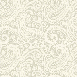 """Ballard Designs - Audrey Gray Fabric by the Yard - Content: 100% Cotton. Repeat: Non-railroaded fabric with 13 1/2"""" repeat. Care: Dry Clean. Width: 54"""" wide. Off-white and gray paisley printed on thick, linen-like cotton. . . . . Because fabrics are available in whole-yard increments only, please round your yardage up to the next whole number if your project calls for fractions of a yard. To order fabric for Ballard Customer's-Own-Material (COM) items, please refer to the order instructions provided for each product. Ballard offers free fabric swatches: $5.95 Shipping and Processing, ten swatch maximum. Sorry, cut fabric is non-returnable."""