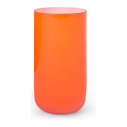Pop Highball Glass, Orange - These tumblers are begging to be filled with something fruity.