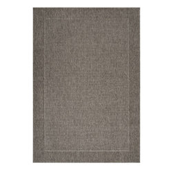 """Surya - Indoor/Outdoor Elements 3'11""""x5'7"""" Rectangle Dark Gray-Light Gray Area Rug - The Elements area rug Collection offers an affordable assortment of Indoor/Outdoor stylings. Elements features a blend of natural Dark Gray-Light Gray color. Machine Made of 100% Olefin the Elements Collection is an intriguing compliment to any decor."""