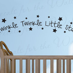 Decals for the Wall - Wall Decal Quote Sticker Vinyl Art Mural Twinkle Twinkle Little Star Nursery B99 - This decal says ''Twinkle twinkle little star''