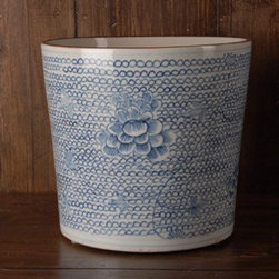 Round Chain Cachepot - This cachepot is so gorgeous you may not want to fill it with dirt; I imagine it next to my sink with my dish soap and a nice wood handled scrubber sponge in it, but that's just me. What will you use it for?