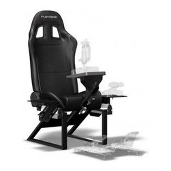 Playseat - Flight Game Chair - Compatible with most flight stick, throttle and yoke sets on the market. Durable black coated fully adjustable framework. Patented fully adjustable side supports. Used by flight simulator enthusiasts and for training by professional pilots. Superior build quality, stability and comfort. This chair is used by flight simulator enthusiasts and for training by professional pilots. It has an extra strong, lightweight, powder coated tubular steel frame with high-tension spring and wire system for the most intense flights. The high profile side bolsters are made of ultra high-density foam; fully upholstered in alcantara, with synthetic leather reinforcements in the high wearing areas. Superior build quality, stability and comfort. Unique foldable design, the Air Force uses little space when not in use.. 23.6 in. L x 19.7 in. W x 15.8 in. H (57.3 lbs)