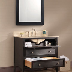 contemporary bathroom vanities and sink consoles Bernay antique black bath vanity open - Foremost