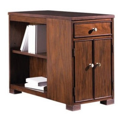 Stanley Hudson Street Boulevard Bookcase End Table Warm Cocoa 712-65-10