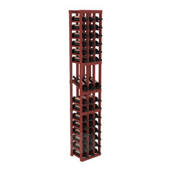 3 Column Display Row Cellar Kit in Pine with Cherry Stain - Make your best vintage the focal point of your wine cellar. High-reveal display rows create a more intimate setting for avid collectors' wine cellars. Our wine cellar kits are constructed to industry-leading standards. You'll be satisfied. We guarantee it.