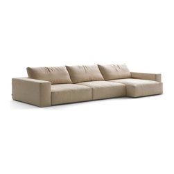 Docko Contemporary Sectional - Featuring deep-seated comfort and ultra modern styling, this Docko Sectional revives any decor.