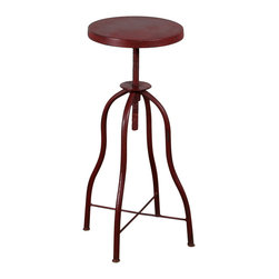 C.G. Sparks - Anna Twist Stool - Red - *Finish: Painted
