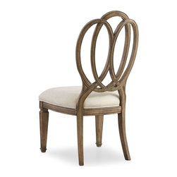 "Hooker Furniture - Hooker Furniture Solana Wood Back Side Chair - Set of 2 - Luminous and fresh, Solana is a refined rustic, opulent yet casual collection that celebrates the look of natural wood bathed in sunshine. Poplar Solids and Oak Veneers with Fabric. Dimensions: 21.75""W x 26""D x 42""H."