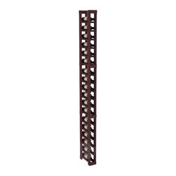 1 Column Split Bottle Cellar Kit in Pine with Burgundy Stain - Store smaller than average wine bottles with a specialized wine rack. Protect 18 wine bottles in less than 4 inches of wall space. This rack is engineered to the same specifications as our modular product line up, and designed to last. That's guaranteed.