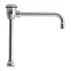 """Chicago - Chicago GN8BVBJKABCP Accessories and Parts - The Chicago GN8BVBJKABCP Accessories and Parts. This gooseneck rigid/swing spout measures 6"""" tall, and features a 3/8""""-18 NPSM female threaded outlet, an atmospheric vacuum breaker, an E7 laboratory serrated nozzle, and a bright, Chrome finish. This spout fits all 1-1/16""""-18 UNEF male body outlets."""