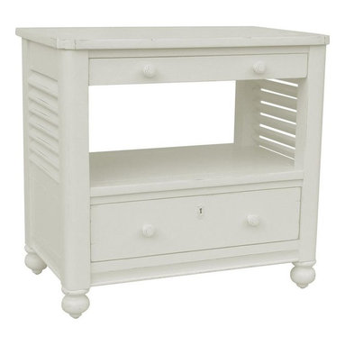 EuroLux Home - New Desk Chest White/Cream Painted Hardwood - Product Details