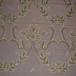 Crewel Fabric World by MDS - Crewel Fabric Bloom Lilac Cotton Duck- Yardage - Inspiration: Bloom is a pattern inspired by flowers and celebrates spring by depicting blooming of flower.