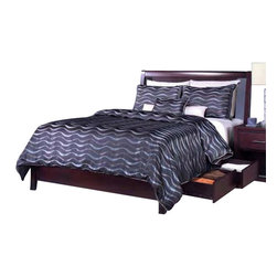 Modus - Modus Nevis Twin Low Profile Storage Bed in Espresso - Modus Nevis Collection Features: