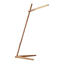 Pablo Designs - Clamp Floor Lamp in White Oak - Features: