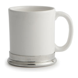Arte Italica - Tuscan Ceramic Mug - If coffee just isn't your cup of tea, rest assured you can use this mug for lots of other beverages, too, from steaming mugs of hot chocolate to your favorite ale. Made in Italy by hand of ceramic with a pewter base, each piece is one of a kind. As with all handcrafted items, slight variations in size and color are to be expected and celebrated.