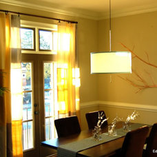 Contemporary Dining Room by balance design