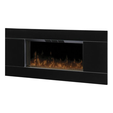 Dimplex - Dimplex Lane Wall-Mount Fireplace - Dimplex - Electric Fireplaces - DWF5328B3A - From the high gloss black front to the stainless steel accent the Lane wall-mount provides contemporary appeal. The realistic flame effect completes the overall simplicity of this stunning design.