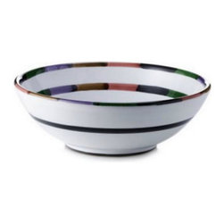 Artistica - Hand Made in Italy - Circo: Serving Pasta/Salad Bowl - The Circo-Bello collection is an exclusive product from Deruta of Italy designed by Bill Goldsmith.