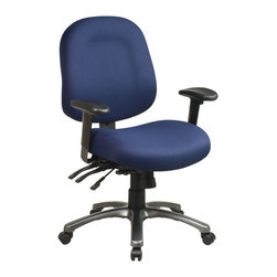 Office Star - Multi-Function Mid Back Chair with Seat Slide - Fabric: Wine in Diamond PatternMolded padding is the wave of the future in office comfort.  This mobile chair features a mid-height back and adjustable arms.  It's a classic style that will fit into any decor and can be used as task, computer or administrative seating. * Click to visualize features. Pneumatic Seat Height (1). Back Height Adjustment (2). 360° Swivel (4). Tilt Tension (8). Multi-Function (13). Grade A Fabric. 42.5 in. H x 27.25 in. W x 24 in. D