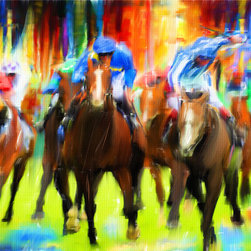 Horse Racing - Series of Art Pieces About Sports