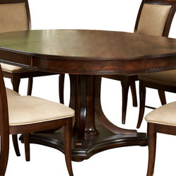 Silver Steve Silver Marseille 52 Inch Round Dining Table W 18 Inch