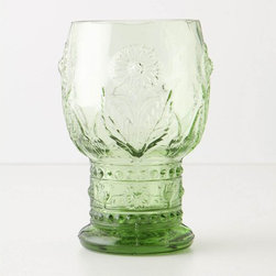 Helianthus Goblet - I am pretty sure every Dutch Master still life has a green goblet present. I would use these for water.