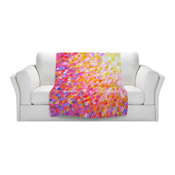 DiaNoche Designs - Fleece Throw Blanket by Julia Di Sano - Splash Out Pink - Original Artwork printed to an ultra soft fleece Blanket for a unique look and feel of your living room couch or bedroom space.  DiaNoche Designs uses images from artists all over the world to create Illuminated art, Canvas Art, Sheets, Pillows, Duvets, Blankets and many other items that you can print to.  Every purchase supports an artist!