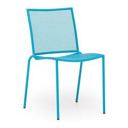 Zuo Modern - Zuo Repulse Bay Chair in Aqua [Set of 4] - Repulse Bay Chair in Aqua by Zuo Modern Funky and fun, the Repulse chair will add flare to any space. Frame is made from 100% epoxy coated steel durable in any climate. Chair (4)