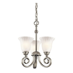 Kichler - Kichler 3728NI Willowmore Convertible Mini Chandelier / Semi Flush Ceiling Light - Kichler 3728 Willowmore Convertible Mini Chandelier / Semi-Flush Ceiling Light