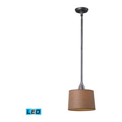 Landmark Lighting - Landmark Lighting insulator Glass 66829-1-LED 1 Light Pendant in Weathered Zinc - 66829-1-LED 1 Light Pendant in Weathered Zinc - LED Offering Up To 800 Lumens belongs to Insulator Glass Collection by Landmark Lighting The Insulator Glass Collection Was Inspired By The Glass Relics That Adorned The Top Of Telegraph Lines At The Turn Of The 20Th Century.��_��__ Acting As The Centerpiece Of This Series Is The Recognizable Shape Of The Glass Insulator, Made From Thick Clear Glass That Is Complimented By Solid Cast Hardware Designed With An Industrial Aesthetic. Finishes Include Polished Chrome, OiLED Bronze, And Weathered Zinc. - LED Offering Up To 800 Lumens (60 Watt Equivalent) With Full Range Dimming. Includes An Easily Replaceable LED Bulb (120V). Pendant (1)