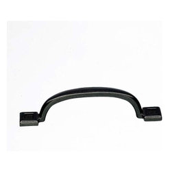 Top Knobs - Top Knobs: Square Inset Pull 5 1/16 Inch - Cast Iron - Top Knobs: Square Inset Pull 5 1/16 Inch - Cast Iron