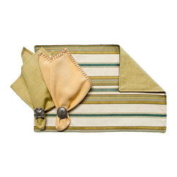 Silverado Home - Camargo Placemat, Citron - Sold in Sets of Four: