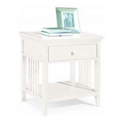 """American Drew 181-400W Drawer Night Stand - White Sterling Pointe - Drawer Night Stand - White - American Drew Sterling Pointe Collection 181-400WFeatures:1 Shelf1 DrawerThis Price Includes:Drawer Night Stand - WhiteItem:Weight:Dimensions:Drawer Night Stand - White48 lbs26"""" W X 17"""" D X 28"""" HManufacturer's Materials:Maple and Hardwood SolidsMaple & Poplar Veneers & Simulated Wood Components"""