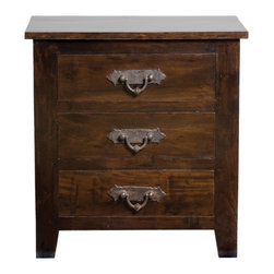 Kosas Collections - Venice 3 Drawer Nightstand - Grace your bedroom with this classic three-drawer nightstand. This nightstand features a water-based finish and a distinctive iron trim. Constructed from authentic acacia wood, this piece is sure to serve your bedroom for many years to come.