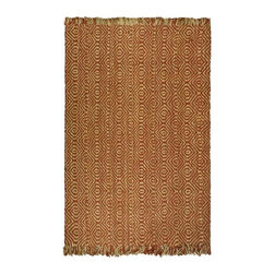 Safavieh - Natural Fiber Power Loomed Sisal Rug (5 ft. x 3 ft.) - Size: 5 ft. x 3 ft. Traditional style. Soft and durable. Made from sisal. Rust color. Made in India. This densely woven rug will add a warm accent and feel to any home. The natural latex backing adds durability and helps hold the rug in place. Care Instructions: Vacuum regularly. Brushless attachment is recommended. Avoid direct and continuous exposure to sunlight. Do not pull loose ends; clip them with scissors to remove. Remove spills immediately; blot with clean cloth by pressing firmly around the spill to absorb as much as possible. For hard-to-remove stains professional rug cleaning is recommended.