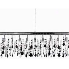 chandeliers Broadway Black Tie Linear Suspension by James R. Moder