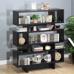 Enitial Lab MAR-051BLK Celio 3-Tier Bookcase-Display Cabinet in Black