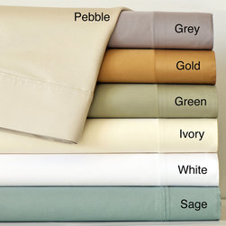 None - Cotton Sateen 820 Thread Count Sheet Set - Sleep in luxury with this cotton sateen sheet set. Including a fitted sheet,a flat sheet,and two pillowcases,this soft 820-thread-count set is woven with fine single-ply yarns and comes in a variety of calming colors to match your bedroom decor.